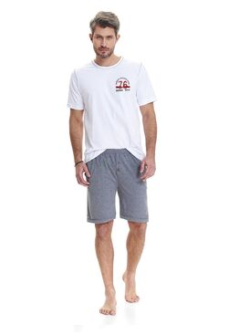 Пижама 9474 PMB белый/серый