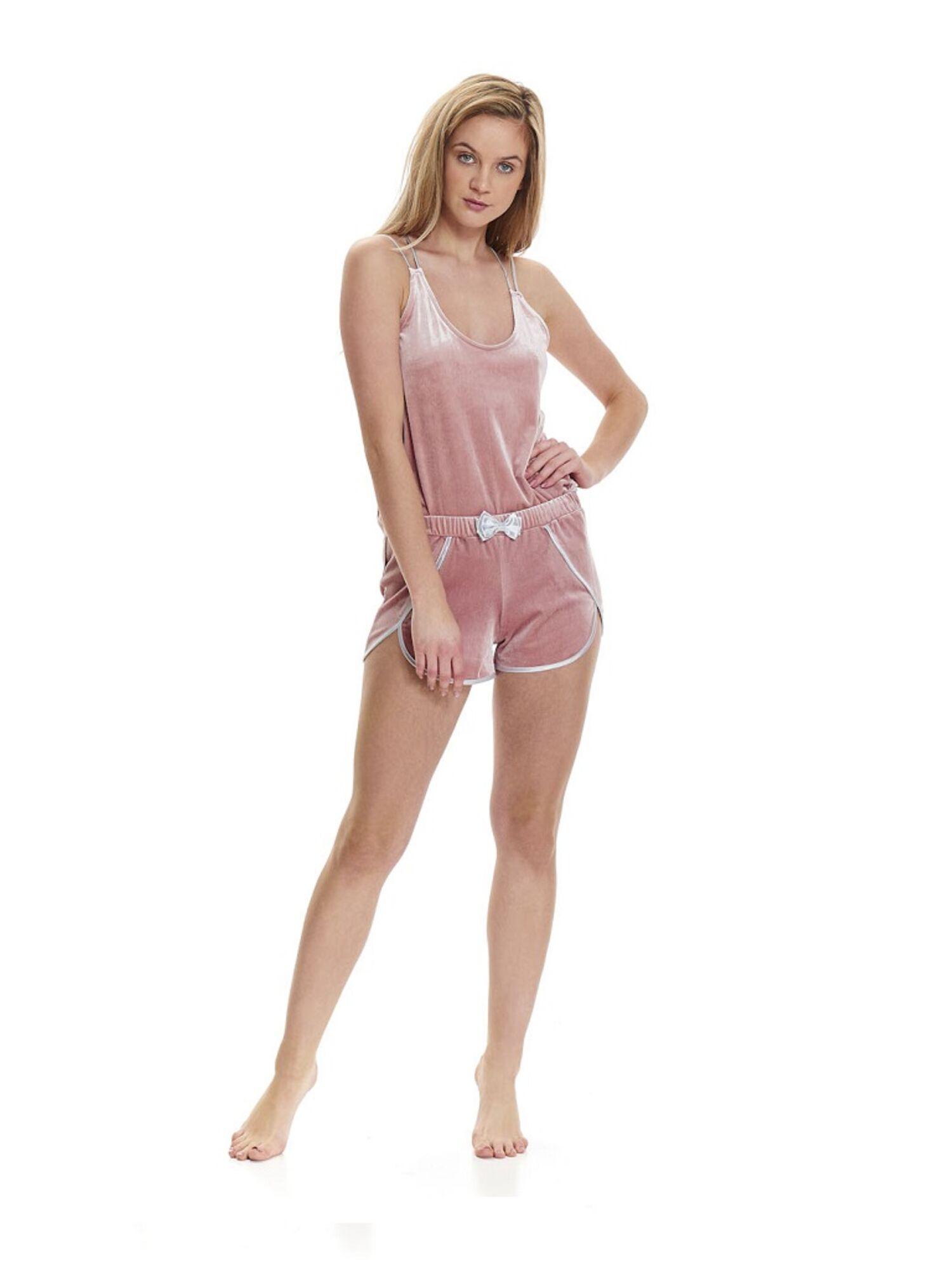 Пижама велюровая PM.9479 розовый