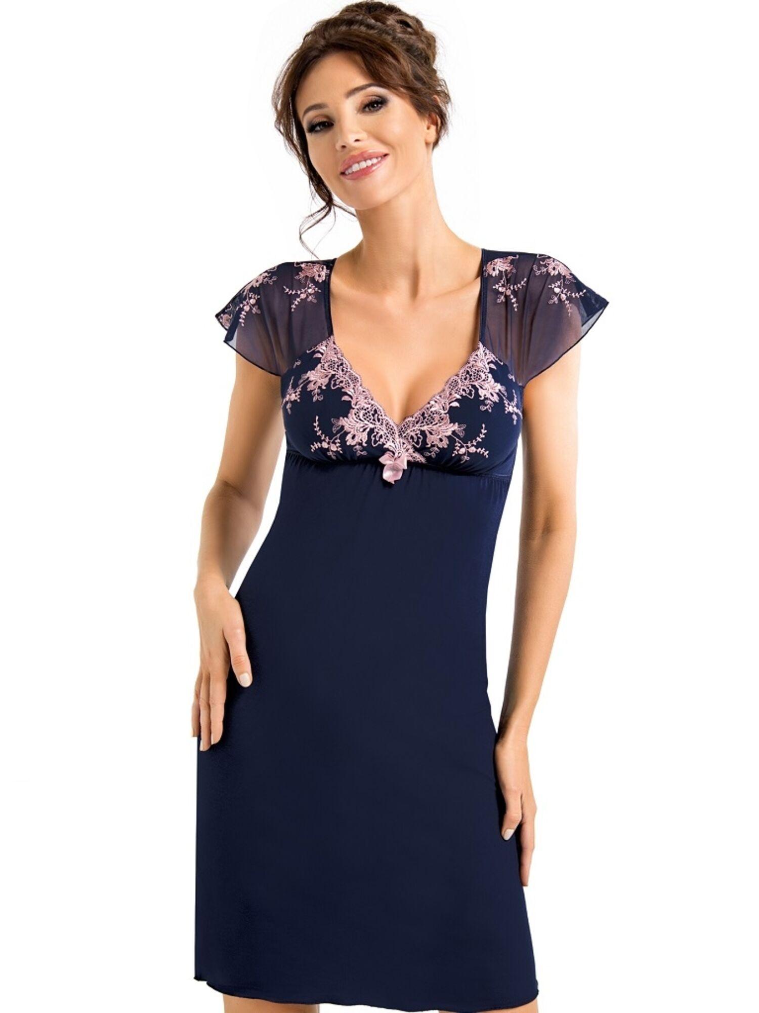 Сорочка женская из вискозы VALENTINE, синий DONNA II