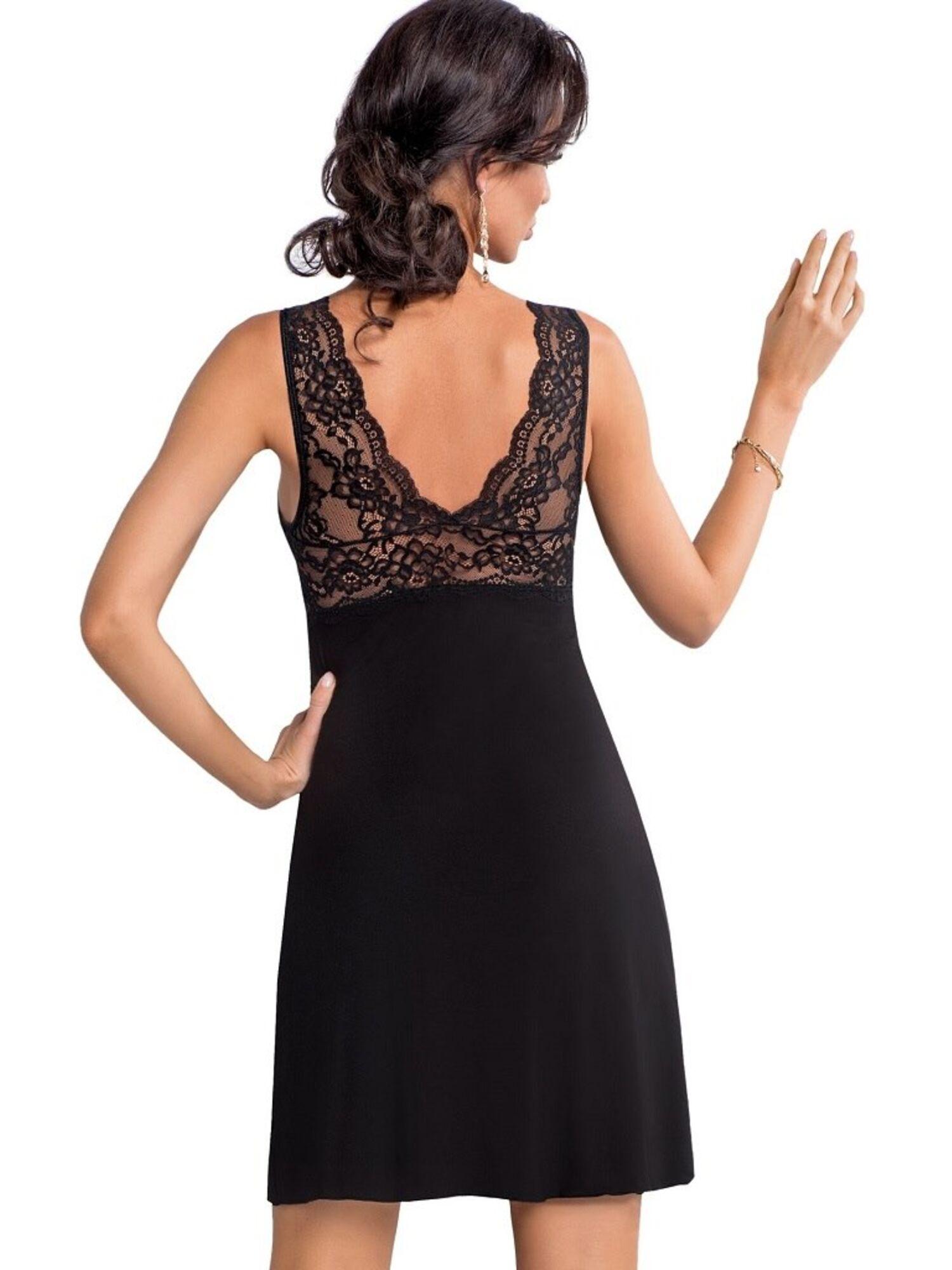 Сорочка женская из вискозы CHANTAL 19 черный, DONNA II