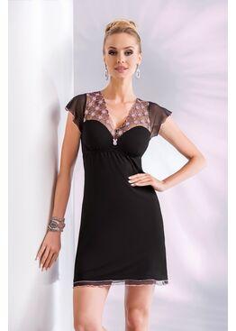 Сорочка PARIS черный/розовый