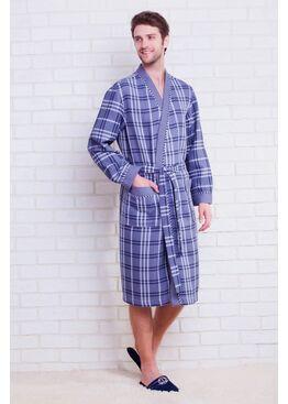 Халат Europe Style 10021 серый
