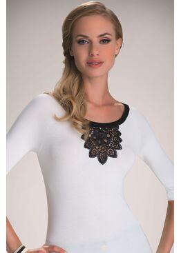 Блузка ESTELA экри/черный