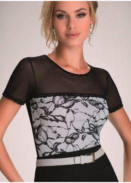 Блузка MAISA экри/черный