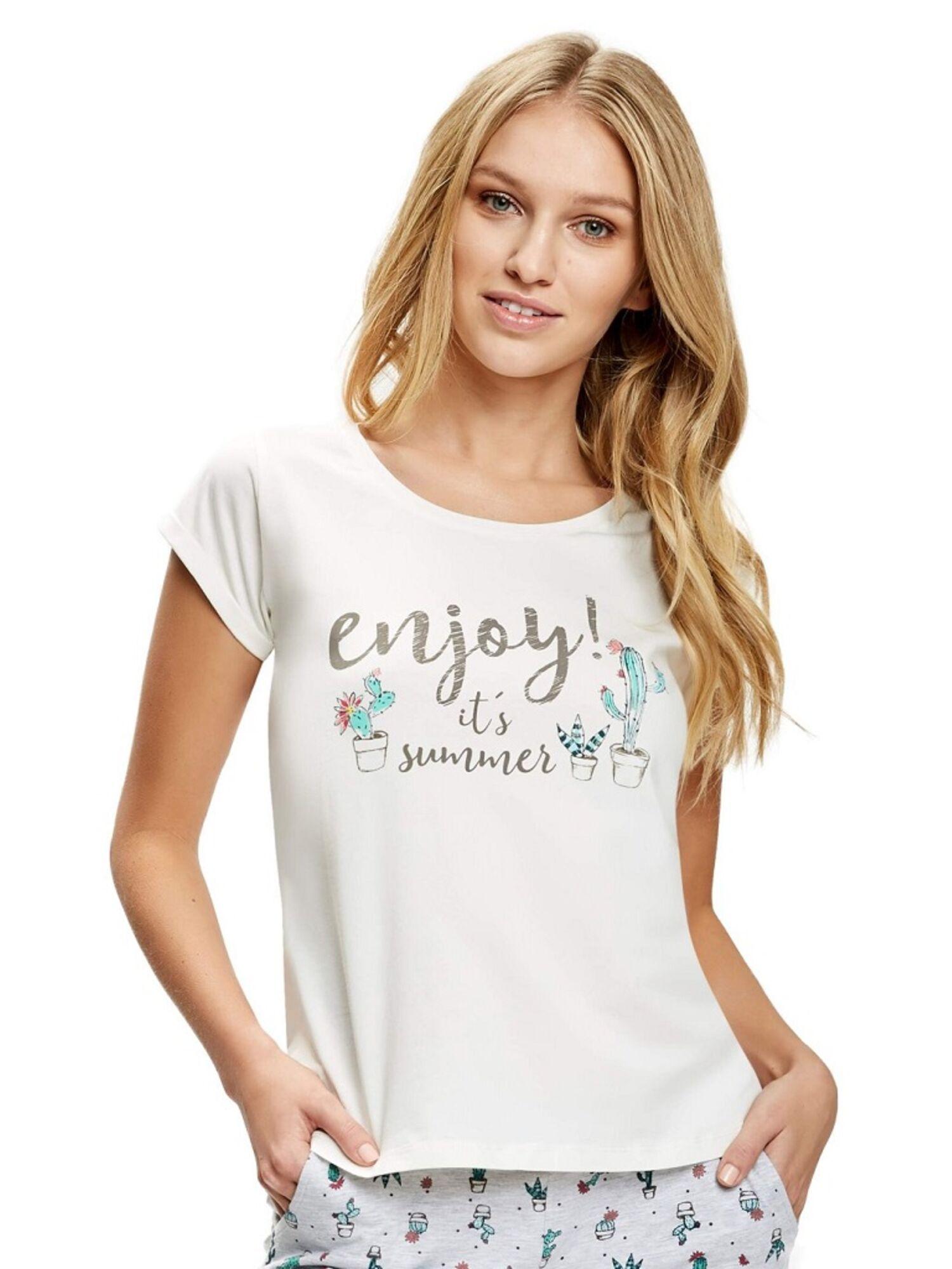 Женская хлопковая футболка 36723 SIESTA, Esotiq (Польша)