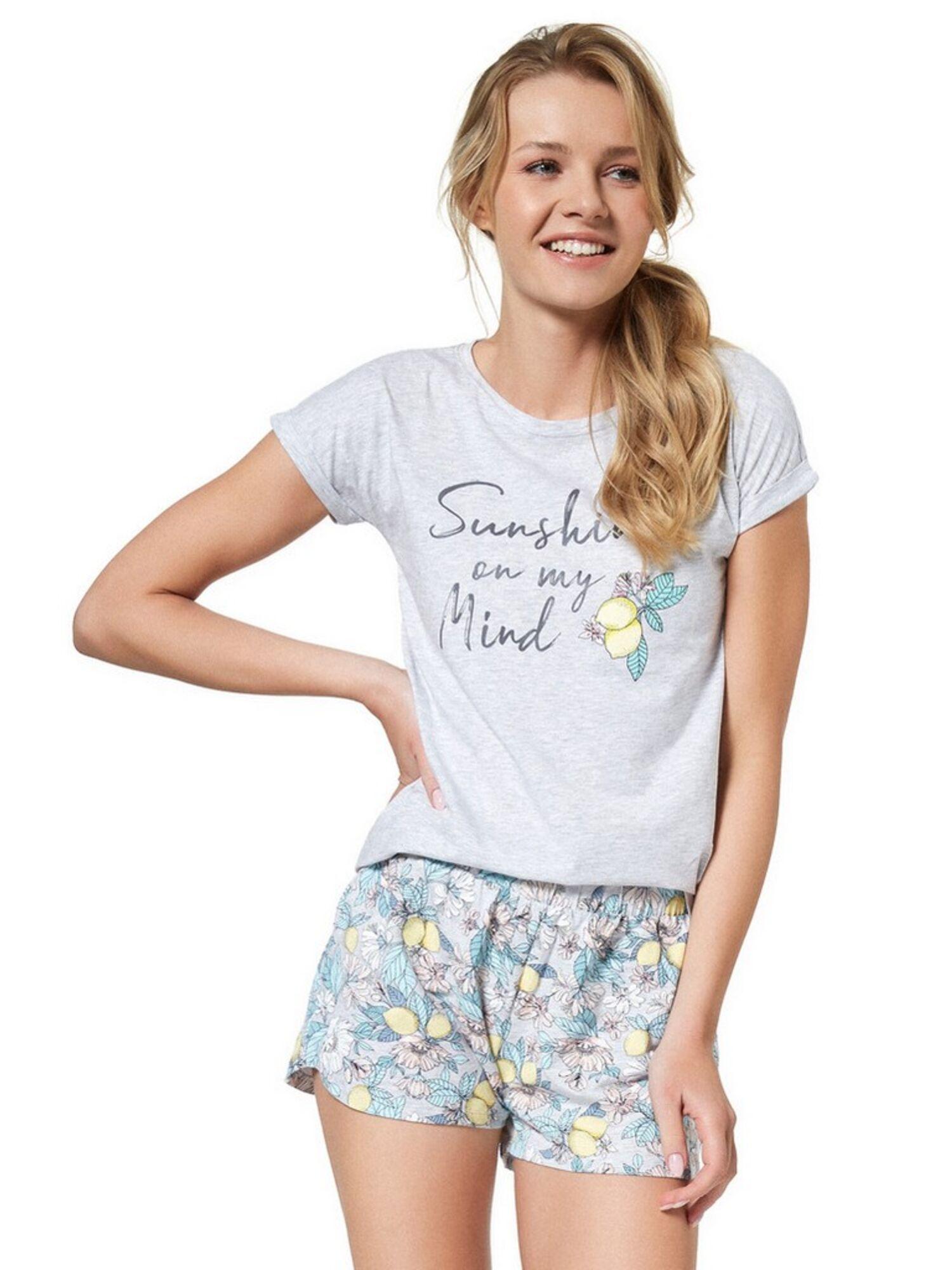 Пижама женская с шортами 37739 BEFFA, серый, ESOTIQ