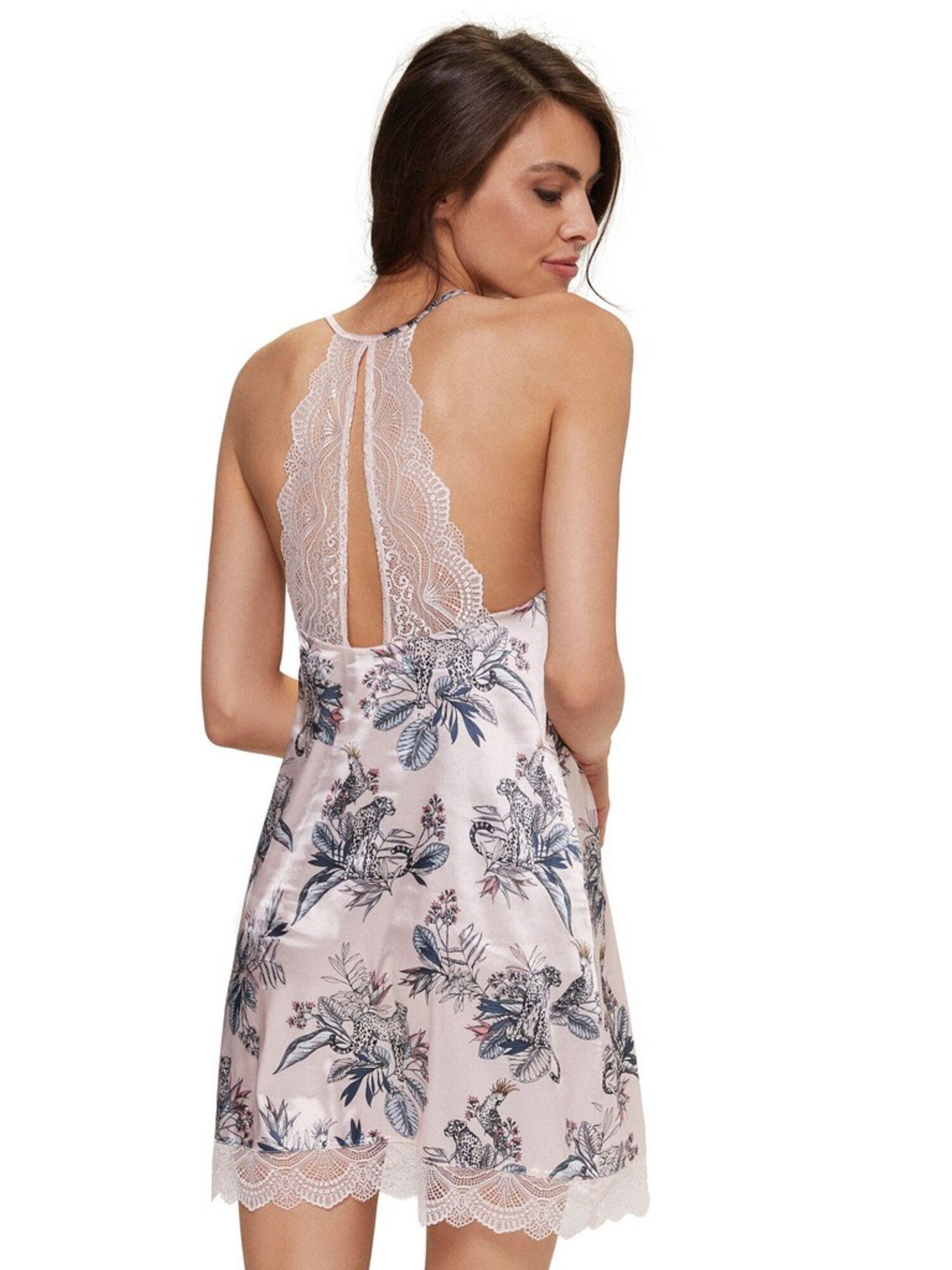 Сорочка женская короткая 38126 BEVERY, розовый, ESOTIQ
