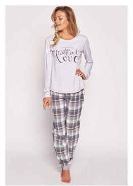 Пижама Paper 35334 серый