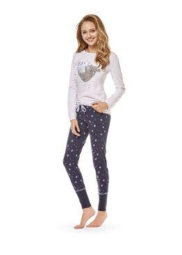 Пижама женская 36496 CRISPY серый/синий
