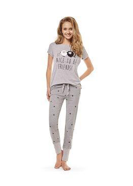 Пижама женская 36563 COTTAGE серый