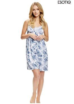 Сорочка женская 36760 SEAS синий/серый