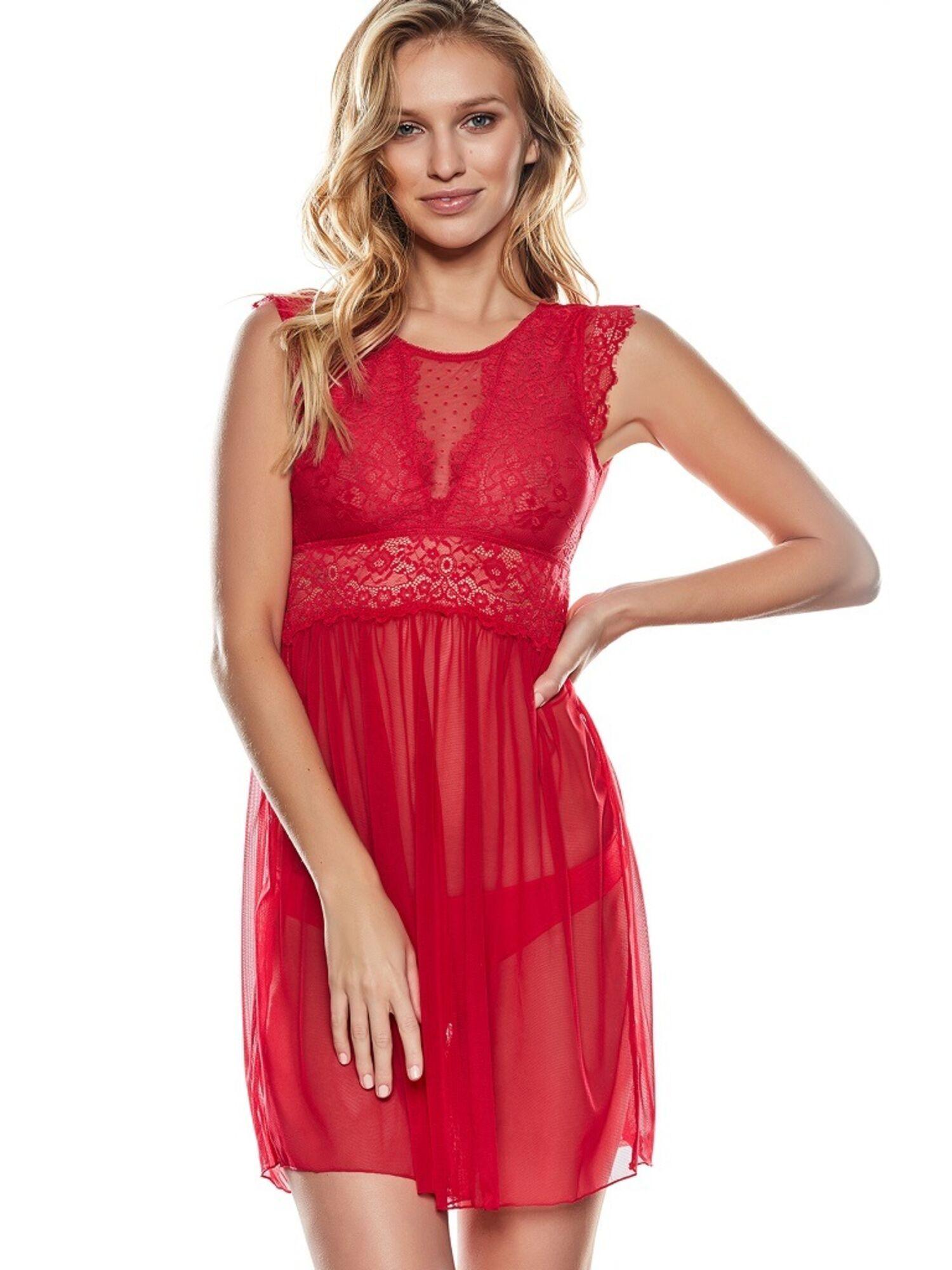 Женская сорочка 37132 LILU красная, Esotiq (Польша)