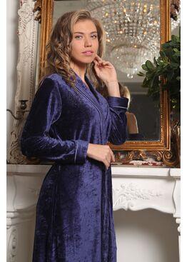 Халат женский велюровый Antoinette (фиалка)
