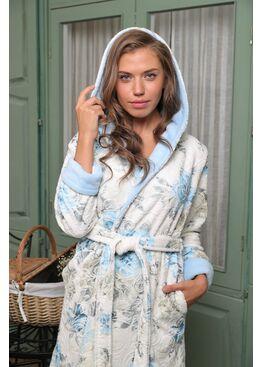 Женский бамбуковый халат Madonna капюшон (Design 6)