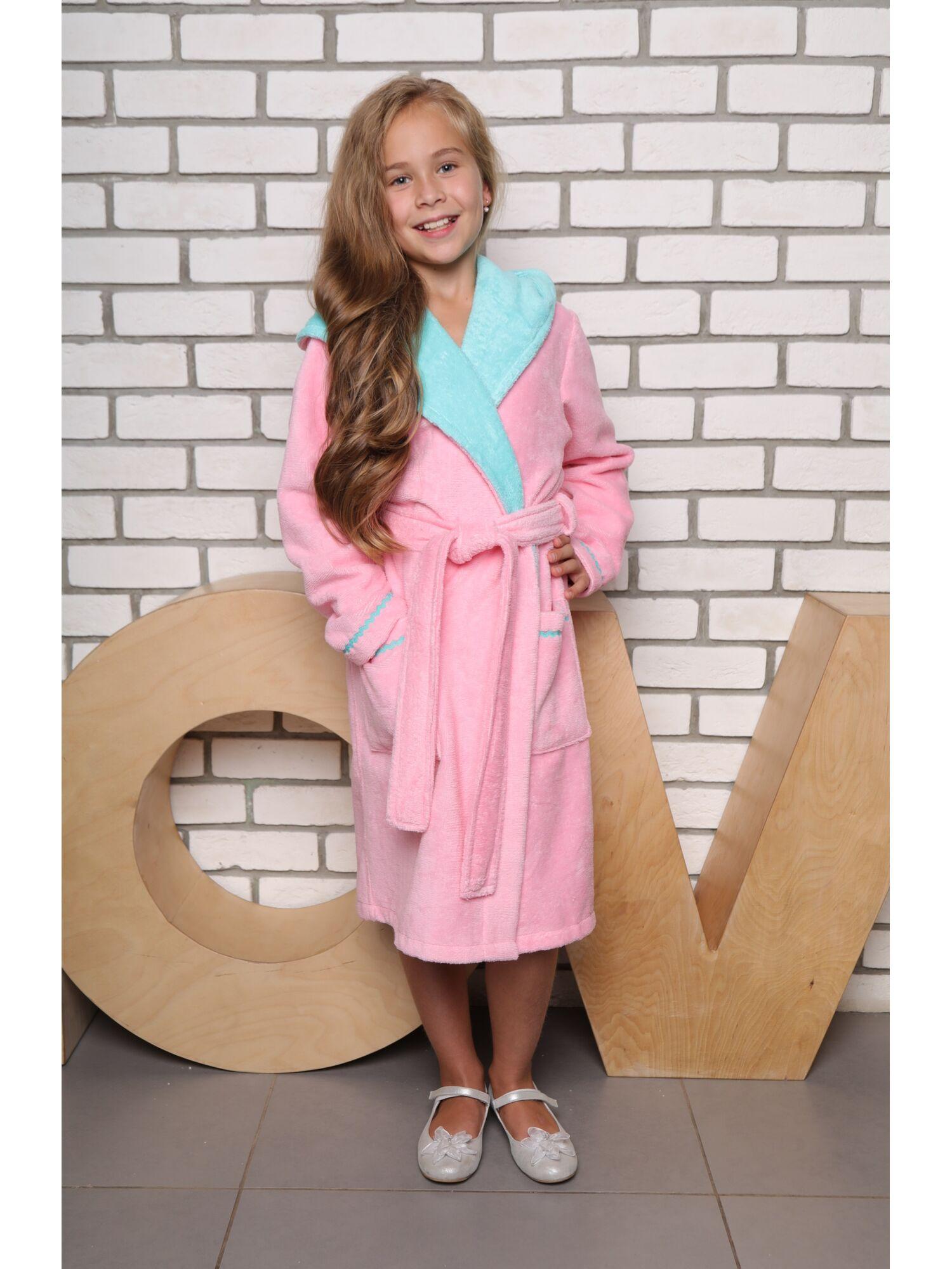 Халат подростковый Mimi (розовый)