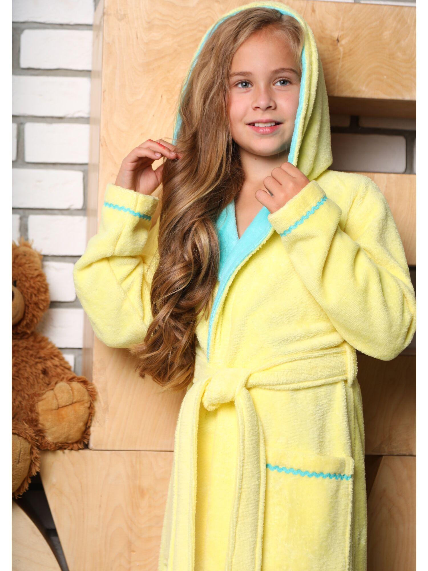 Халат подростковый Mimi (лимон)