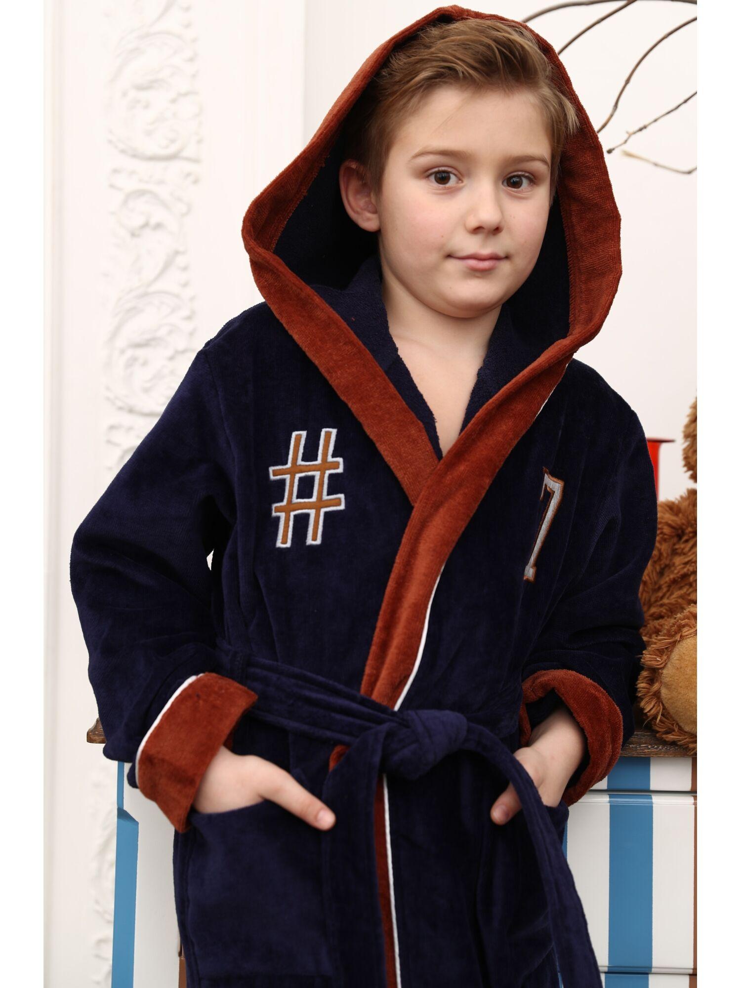 Подростковый халат Seven (синий)