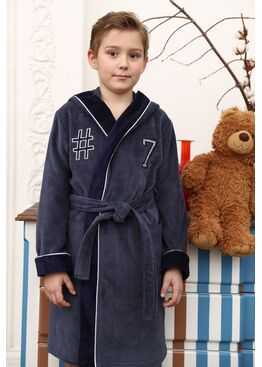 Подростковый халат Seven (серый)
