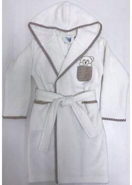 Детский банный махровый халат Teddy (крем)