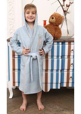 Детский банный махровый халат Teddy (голубой)