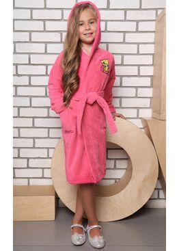 Детский махровый халат из бамбука Малыш (розовый)