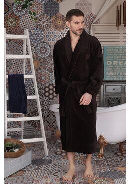 Классический мужской халат Aron (Chokolate)