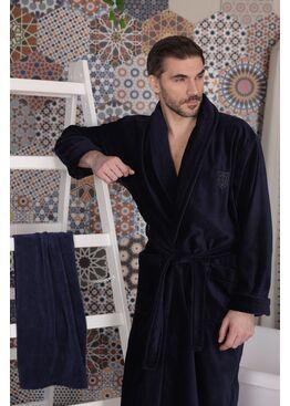 Классический мужской халат Aron (Navy)