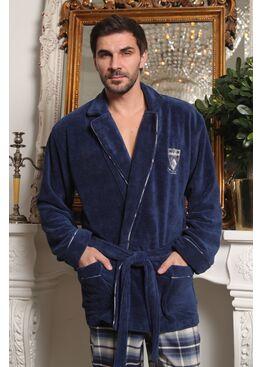 Мужской комплект халат-пиджак с брюками Arsenal (джинс)
