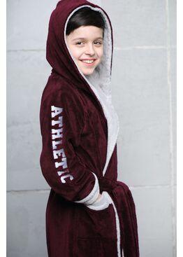 Подростковый халат Athletic Junior (бордо)