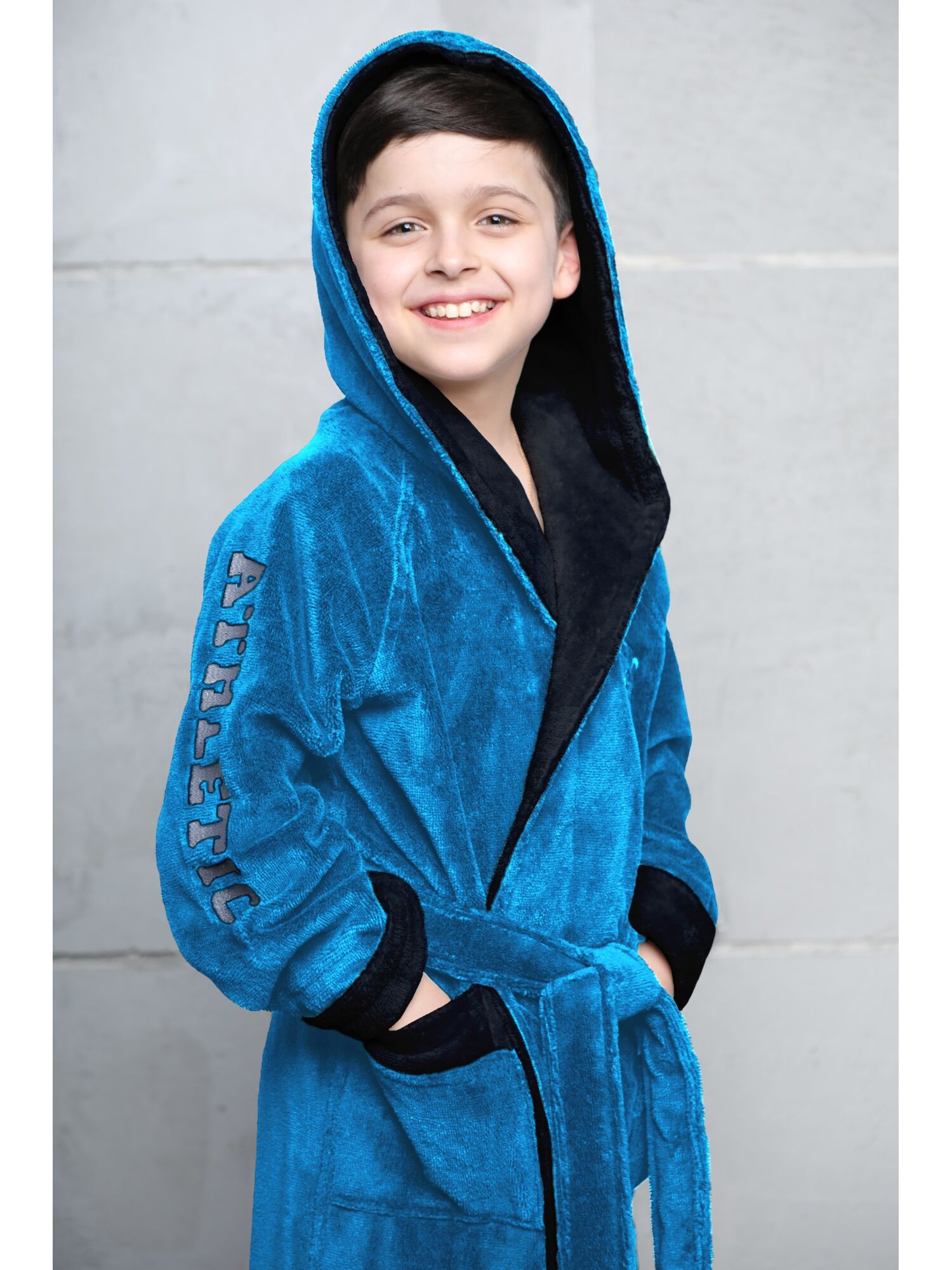 Подростковый халат Athletic Junior (парламент)