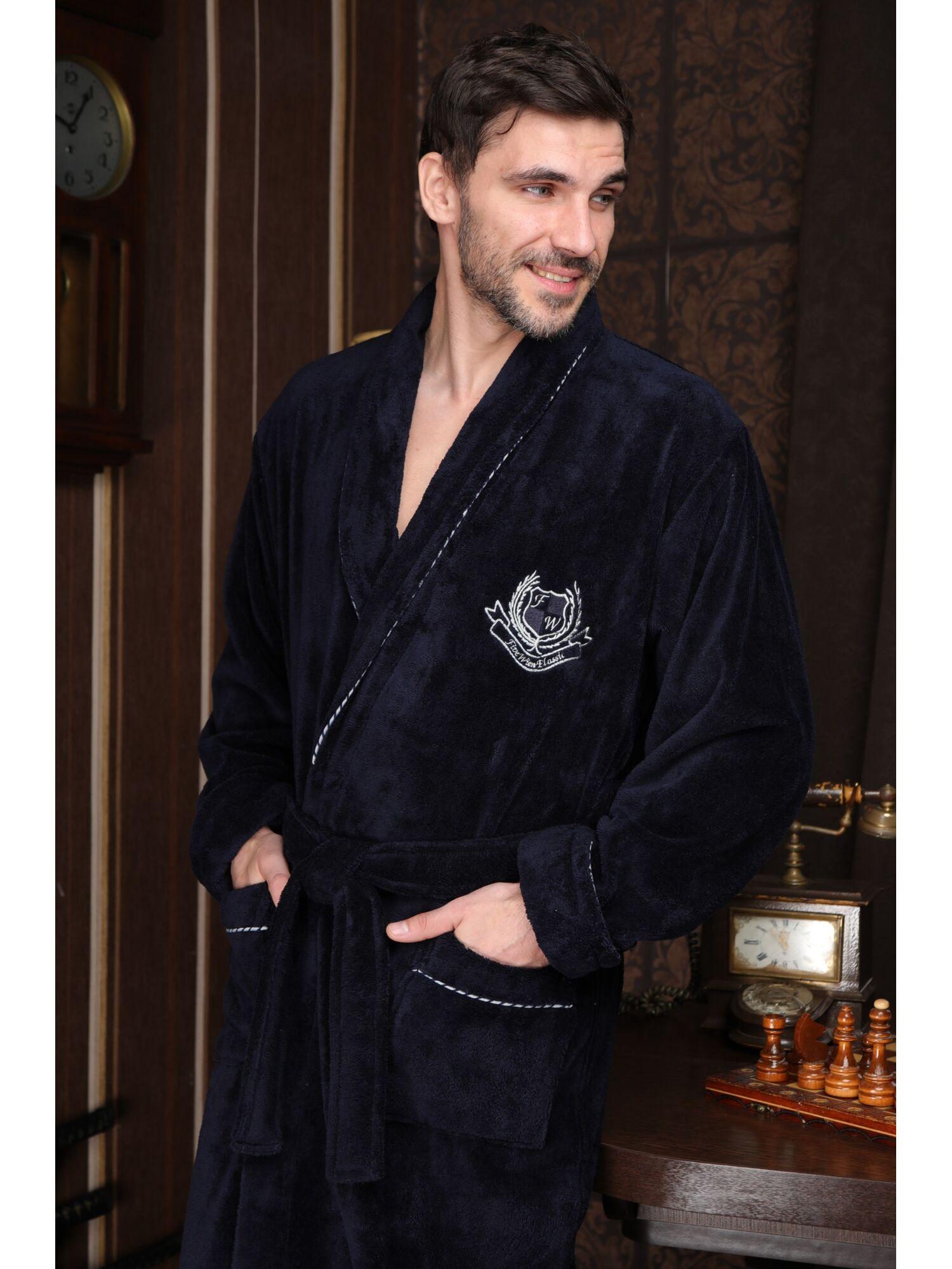 Мужской халат из бамбука Cardinal (Синий)