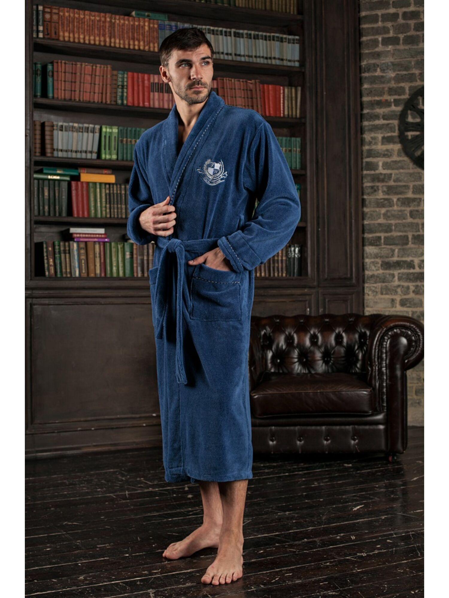 Мужской халат из бамбука Cardinal (джинс)