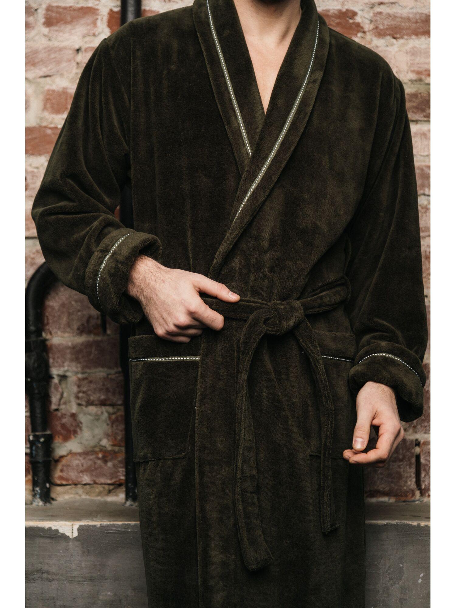 Халат мужской бамбуковый Daniel (хаки)