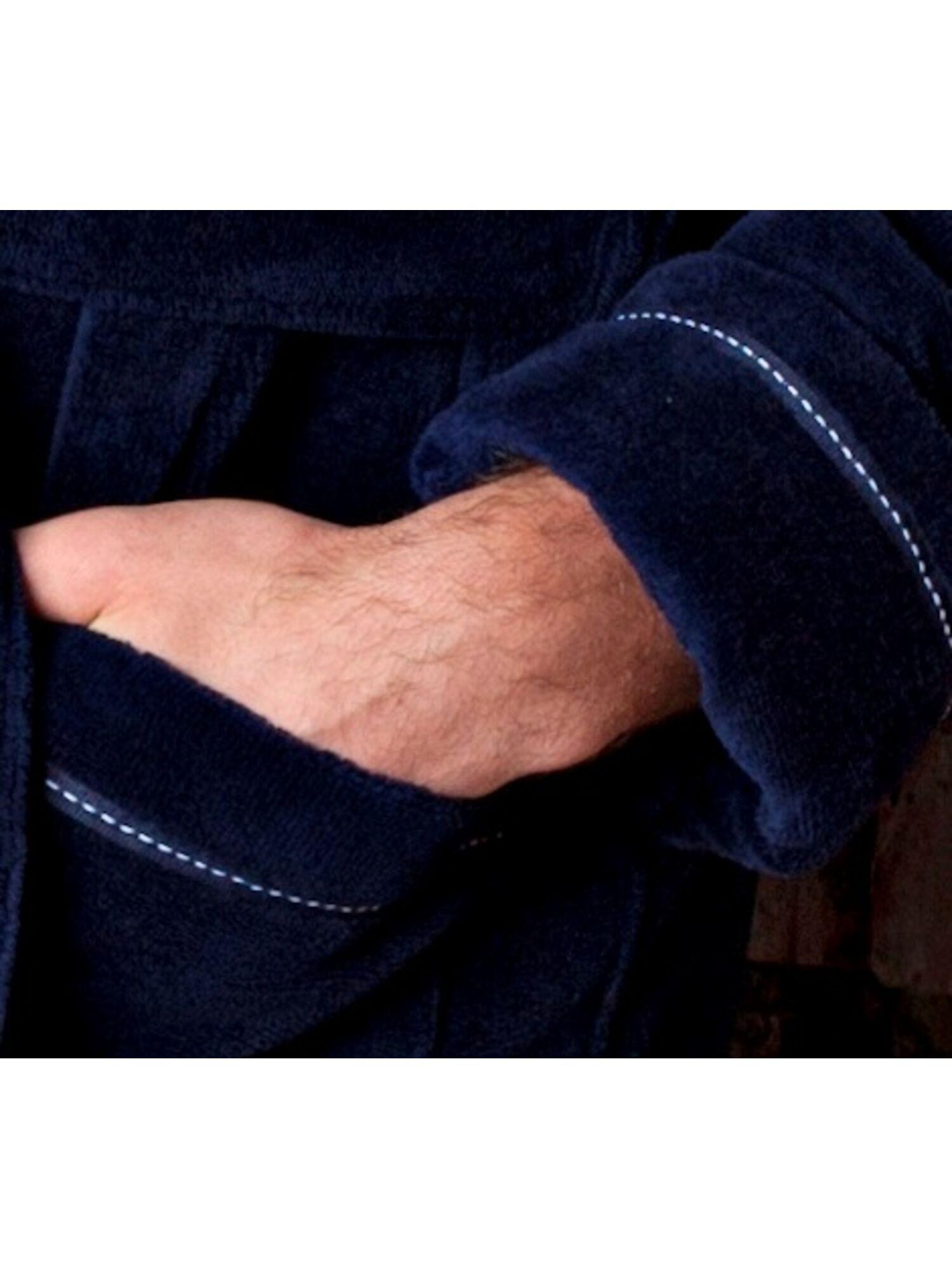 Халат мужской бамбуковый Daniel (синий)
