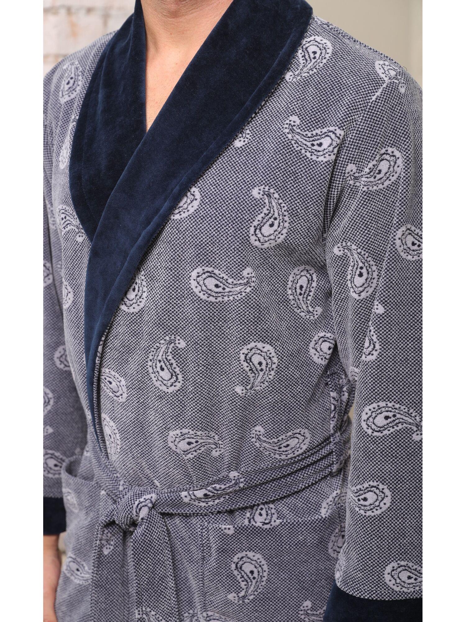 Классический бамбуковый халат Garcia (серый)