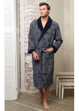 Классический бамбуковый халат Garcia (синий)