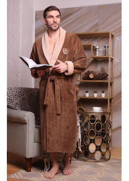 Классический бамбуковый халат Ludovic (табак)