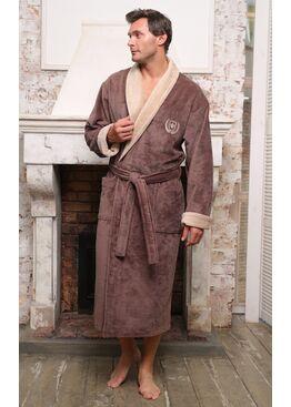 Классический бамбуковый халат Ludovic (капучино)