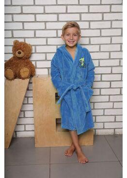 Детский махровый халат из бамбука Малыш (голубой)