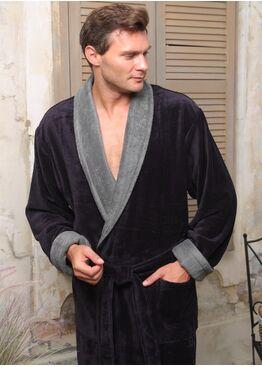 Классический бамбуковый халат Pegasus (антрацит)