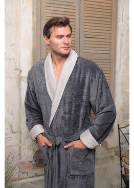 Классический бамбуковый халат Pegasus (серый)