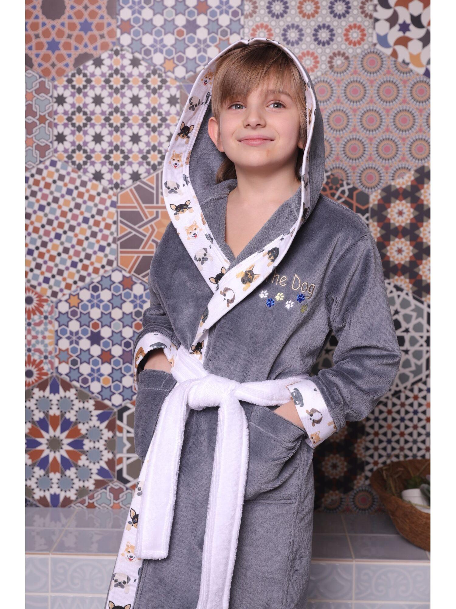 Детский халат Puppy (Silver)