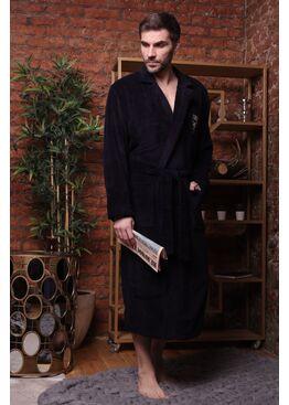Классический бамбуковый халат Relax (синий)