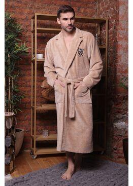 Классический бамбуковый халат Relax (бежевый)