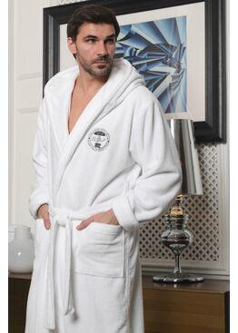 Мужской халат с капюшоном Sydney (белый)