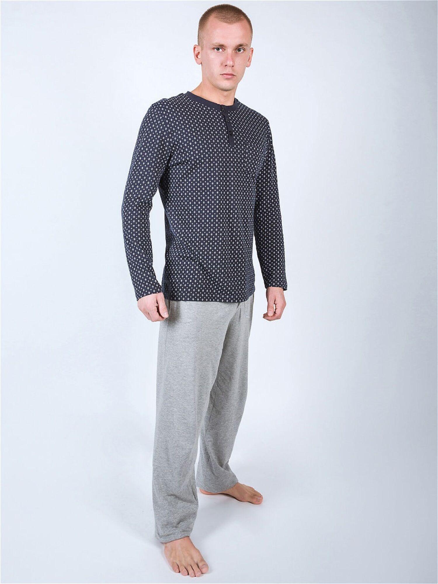 Комплект мужской с брюками PJ003 серый, Gentlemen