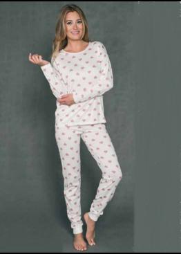 Пижама женская ARIES экри/розовый