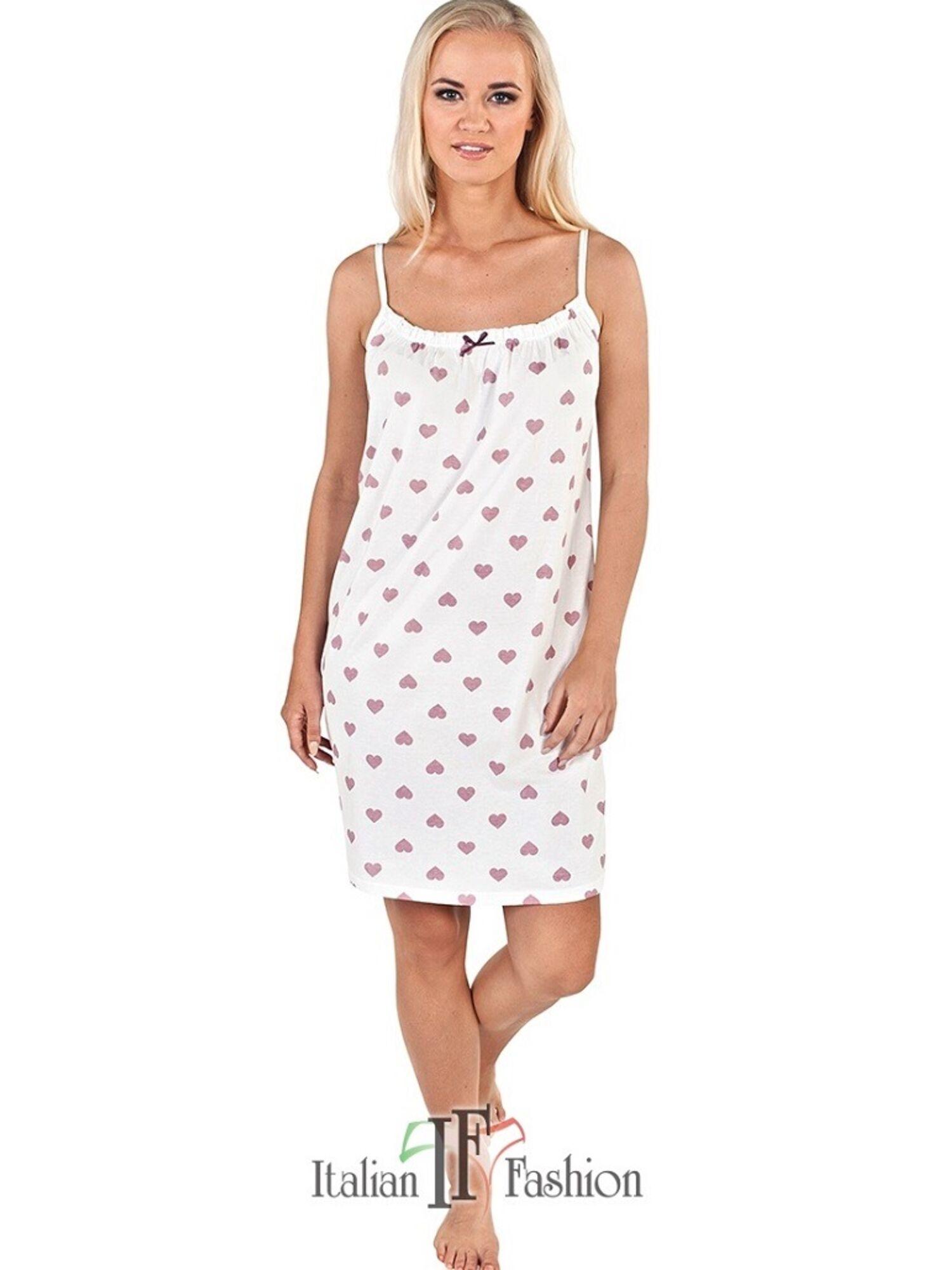 Сорочка женская ARIES экри/розовый, Italian Fashion (Польша)