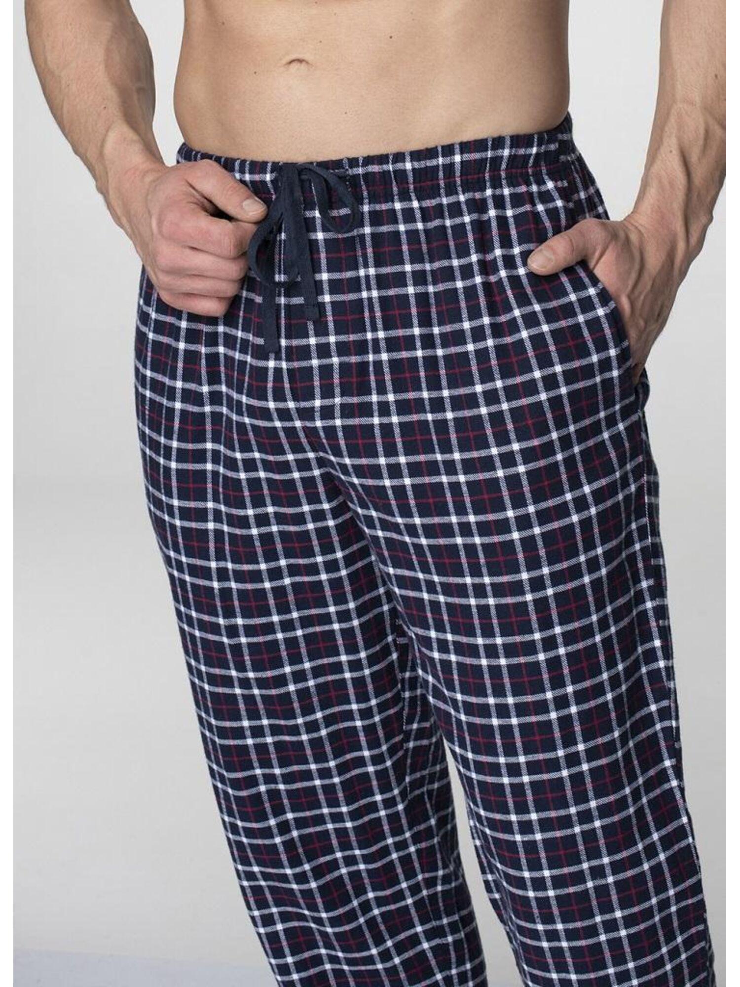 Мужская хлопковая пижама с брюками MNS 045 19/20 синий, KEY