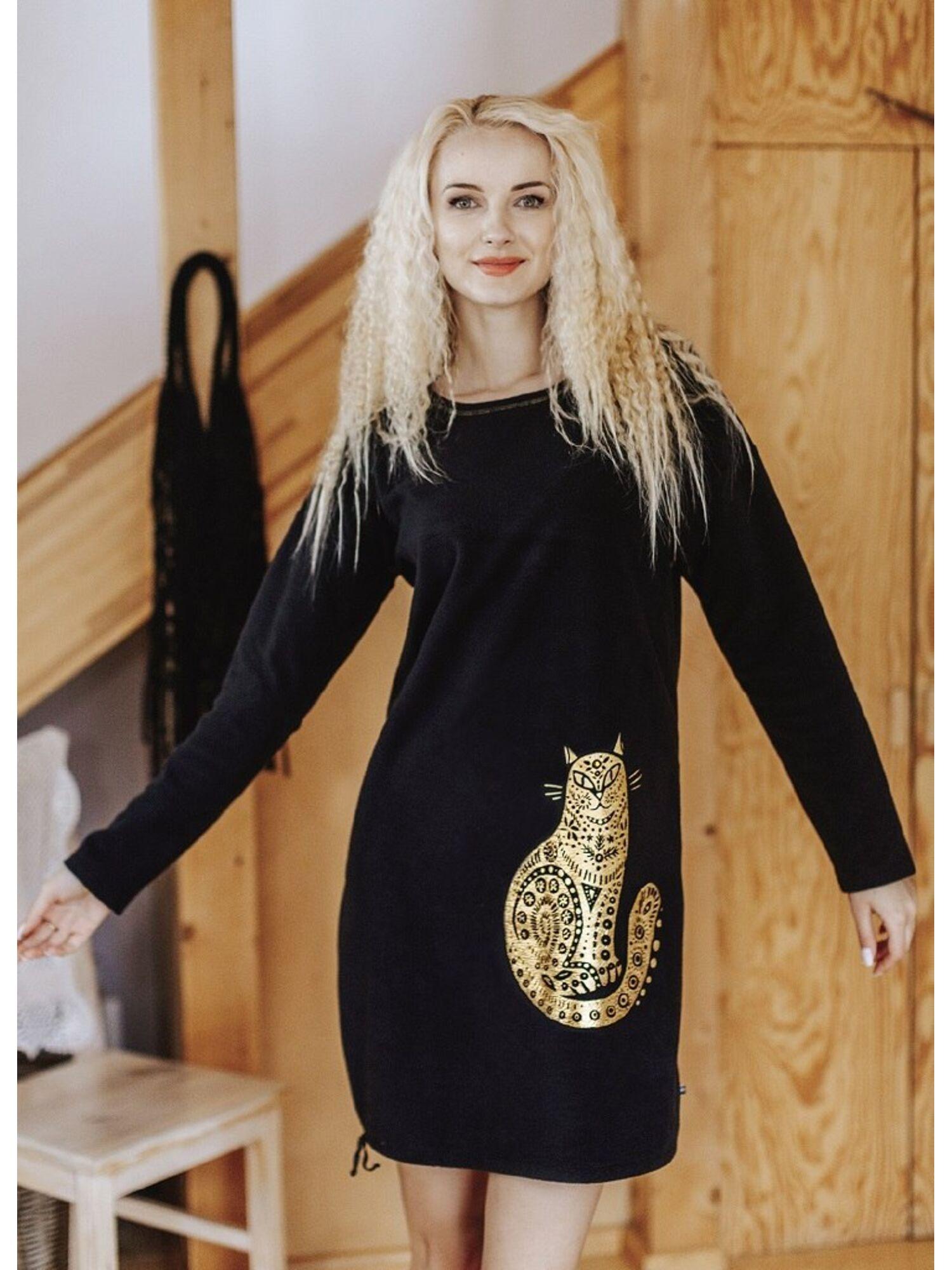 Платье женское из полиэстера LHD 742 19/20 черный, KEY